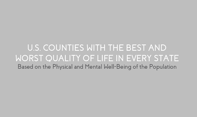 U.S. Counties With the Best and Worst Quality of Life in Every State