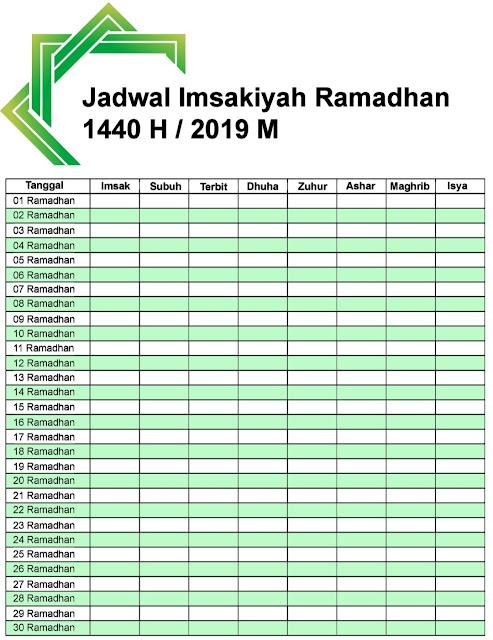 Download Jadwal Imsakiyah Ramadhan 2019 (1440 H)