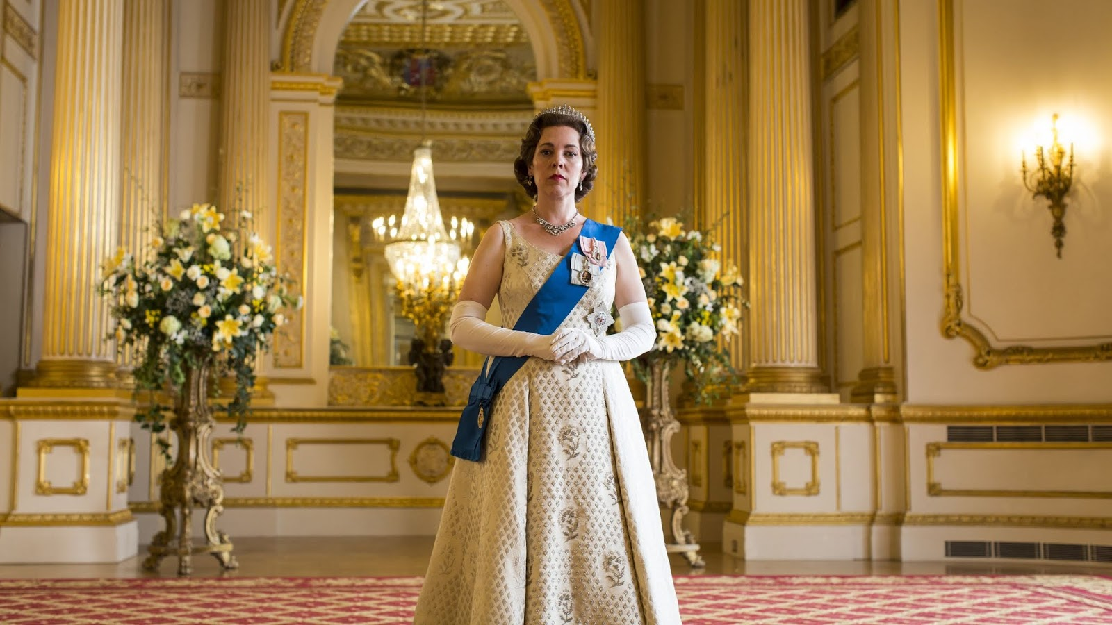 Olivia Colman en la tercera temporada de 'The Crown'