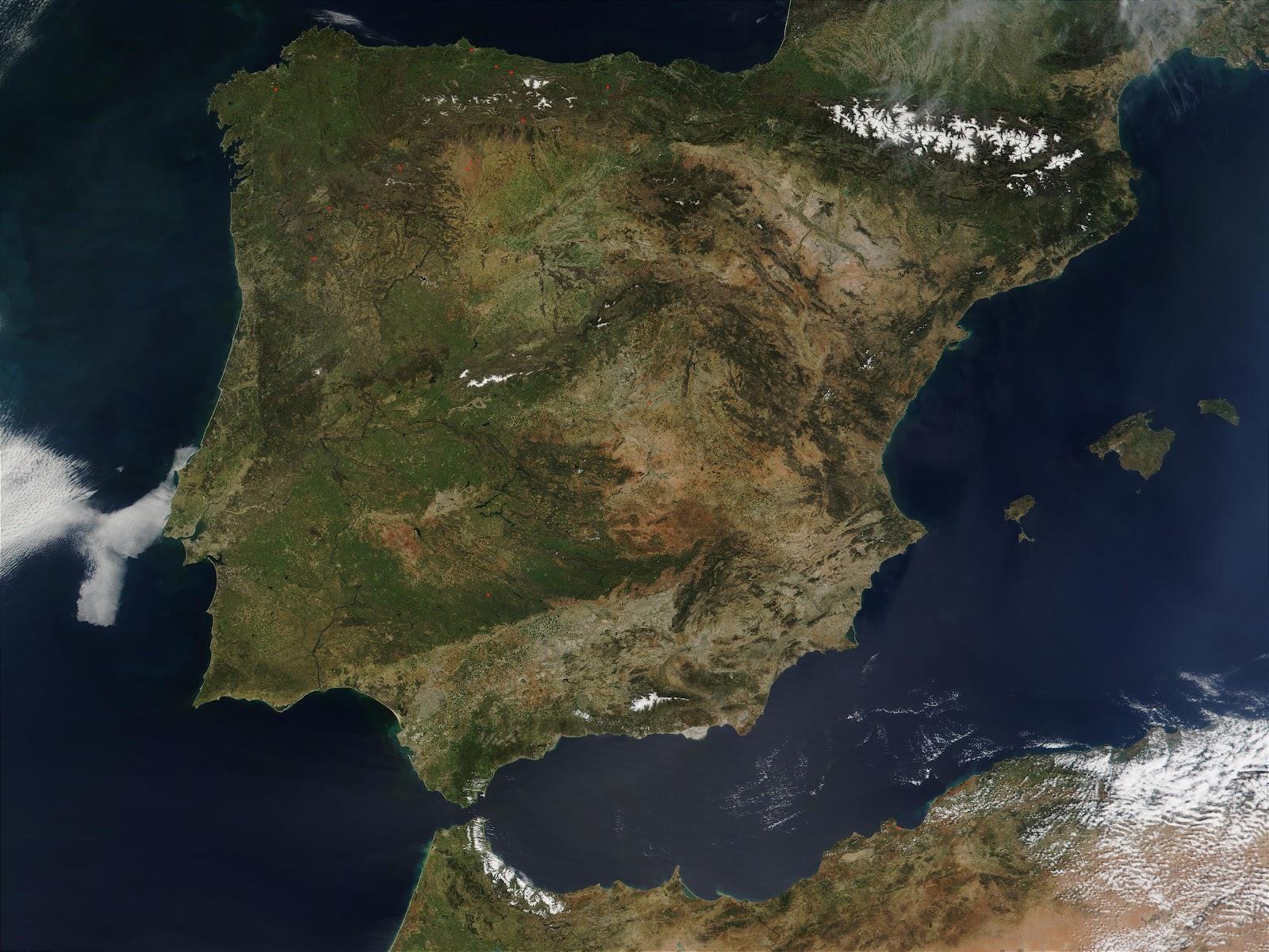 Mapa Satelital De España.Biqfr Csic Espana Virtual Un Puente Para Unir La