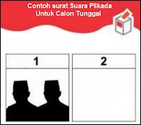 Contoh surat suara calon tunggal pilkada bone 2018