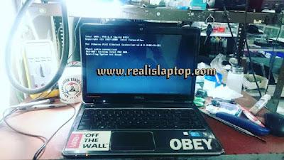 service laptop dell n4050 tidak tampil di layar