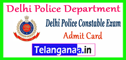 Delhi Police Constable Time Table 2017 Admit Card Download