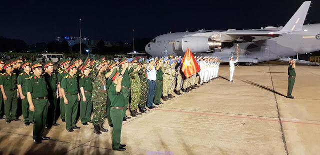 lễ đón đoàn bác sỹ Việt Nam ở nam Sudan trở về