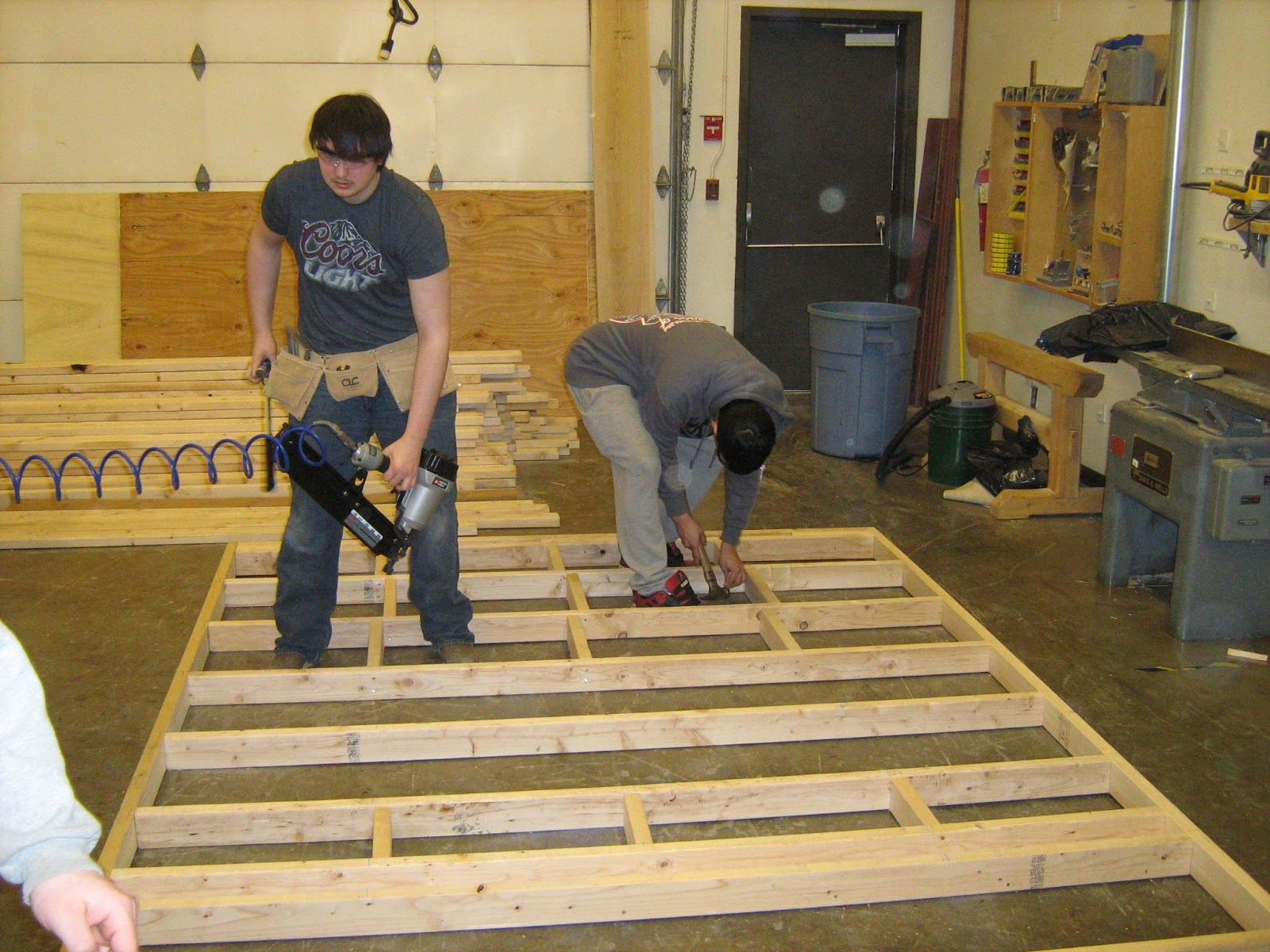 adirondack chairs blueprints accent rocking wrangell public schools vocational shop: carpentry, framing the walls