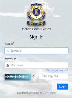 Indian Coast Guard Navik Yantrik Admit card download page
