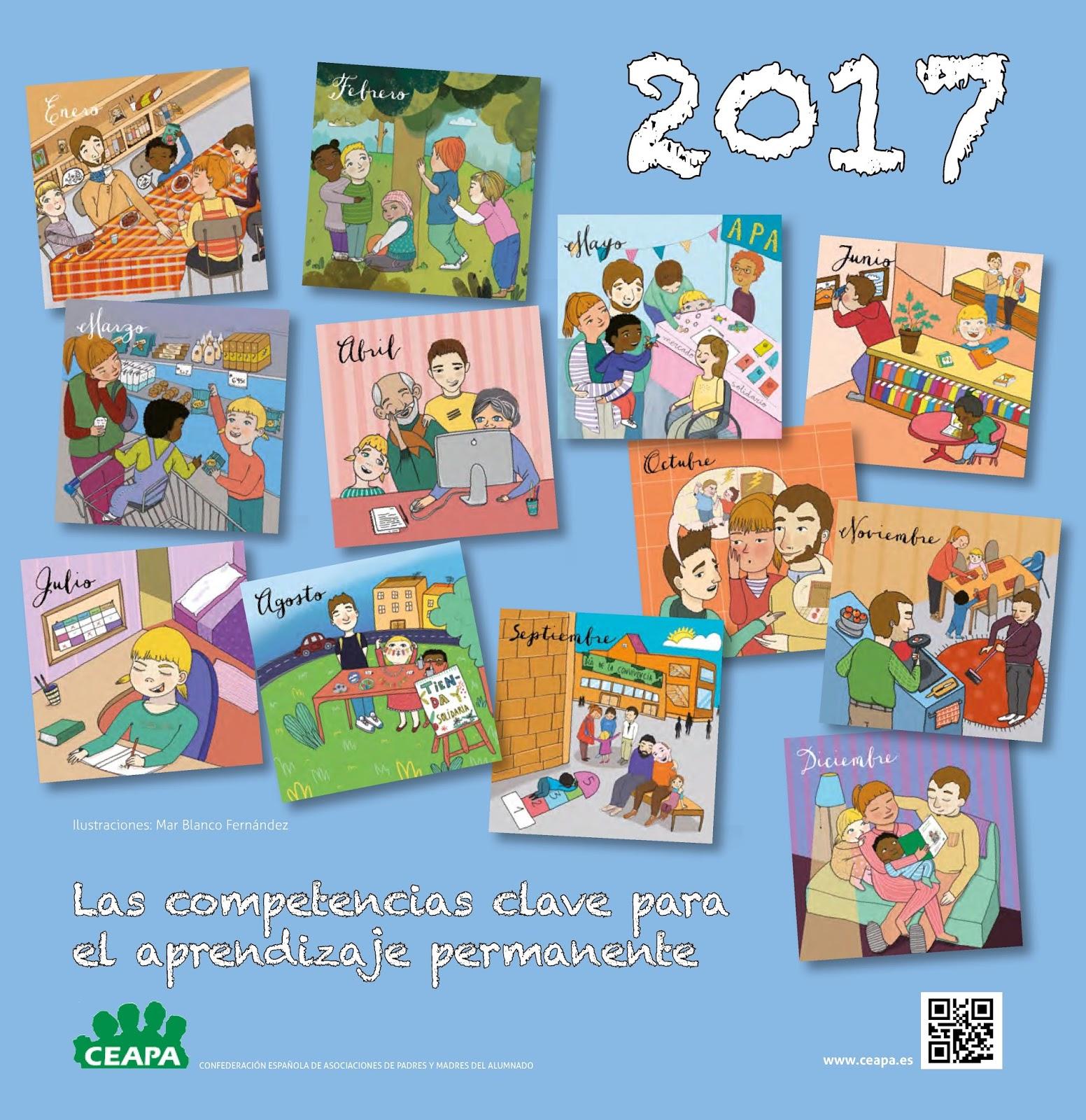 Calendario 2017 de competencias clave para el aprendizaje permanente – CEAPA
