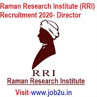 Raman Research Institute (RRI) Recruitment 2020, Director
