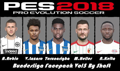 PES 2018 Bundesliga Facepack v5 by Shaft