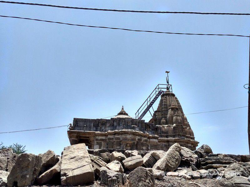 Jain temple ruins at the Mahakalika Temple, Pavagad, Champaner Gujarat