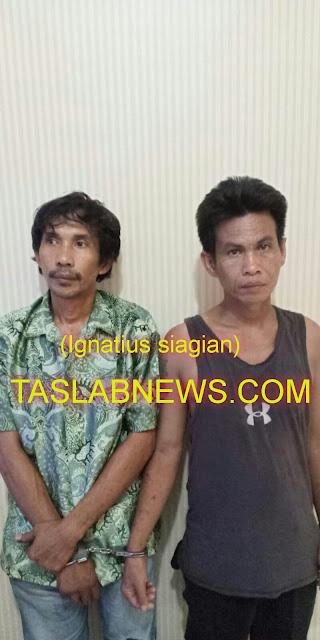 Dua tersangka sabu di Tanjungbalai.