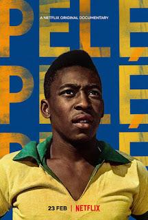 Footballer Pele in a brazil shirt