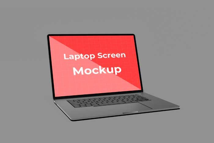 Realistic Laptop Notebook Design Mockup
