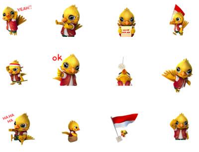 WeChat Hadirkan Stiker Animasi 'Garuda Love Indonesia'