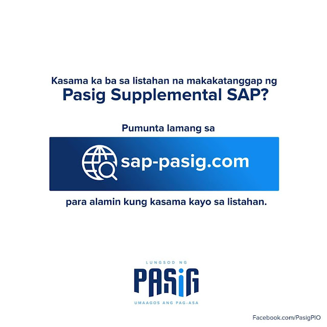 Pasig launches online platform list for supplemental SAP beneficiaries