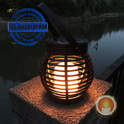 Giỏ đèn cầy treo sạc bằng năng lượng mặt trời