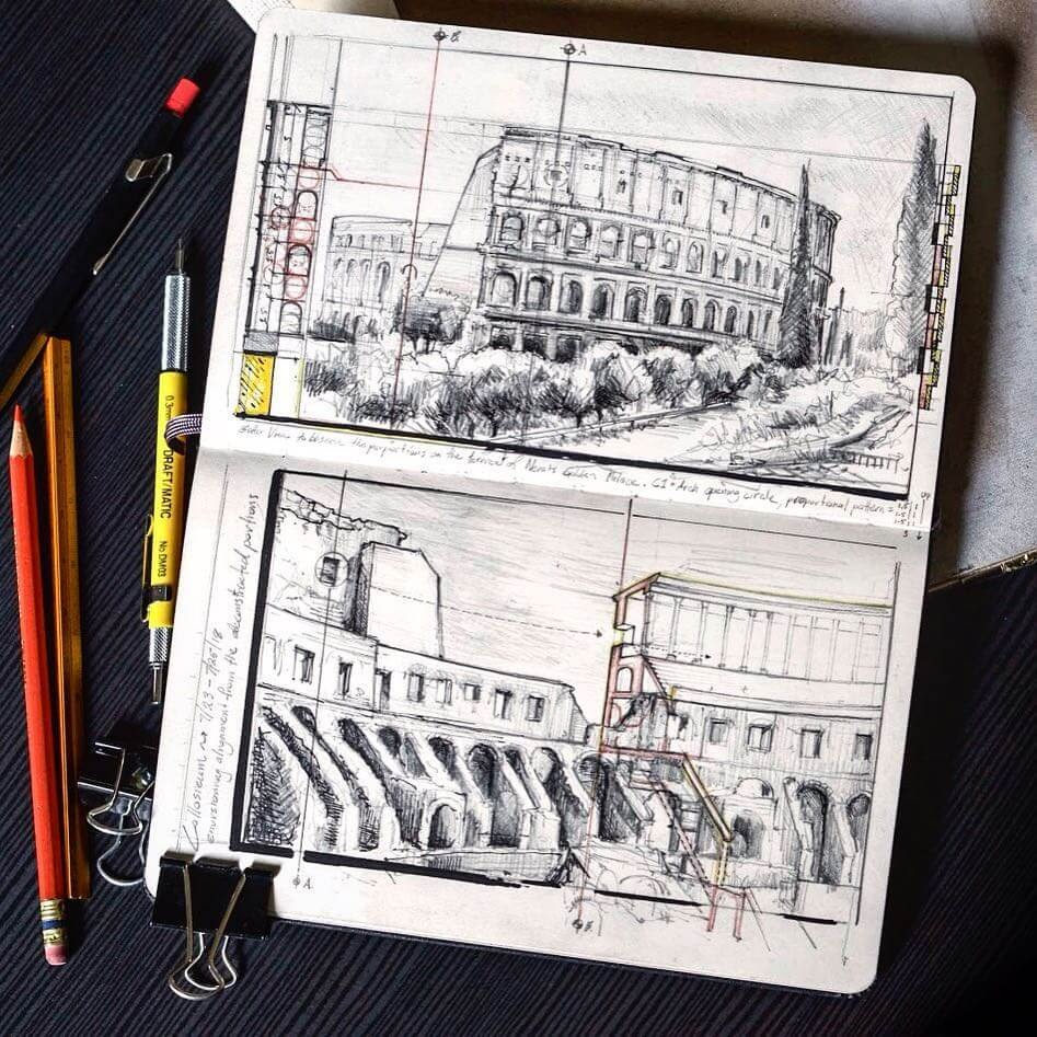 03-Colosseum-Jerome-Tryon-Moleskine-Book-with-Sketches-and-Notes-www-designstack-co