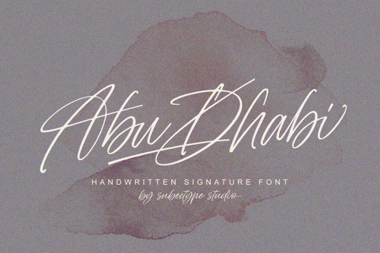 Abu Dhabi Font - Free Handwritten Signature Typeface