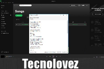 Spotify Lyrics .NET - Applicazione che ti permette di vedere il testo della canzone attualmente in riproduzione su Spotify