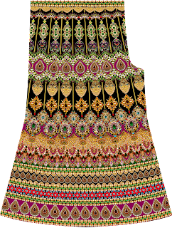 Jewelry Print Plazo Textile Design 2740