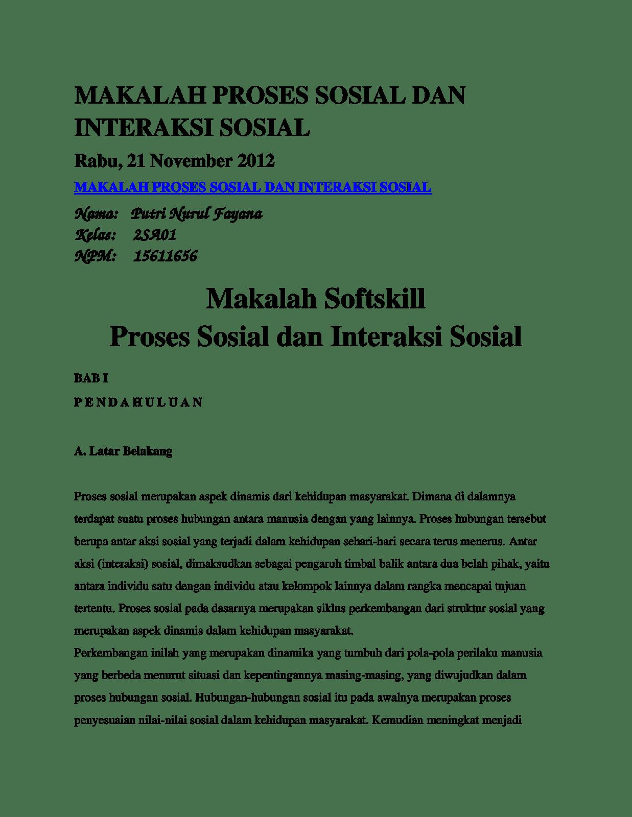 Proses Sosial Wood Scribd Indo