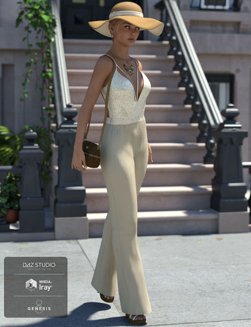 Sophisticated Jeni Outfit for Genesis 8 Female