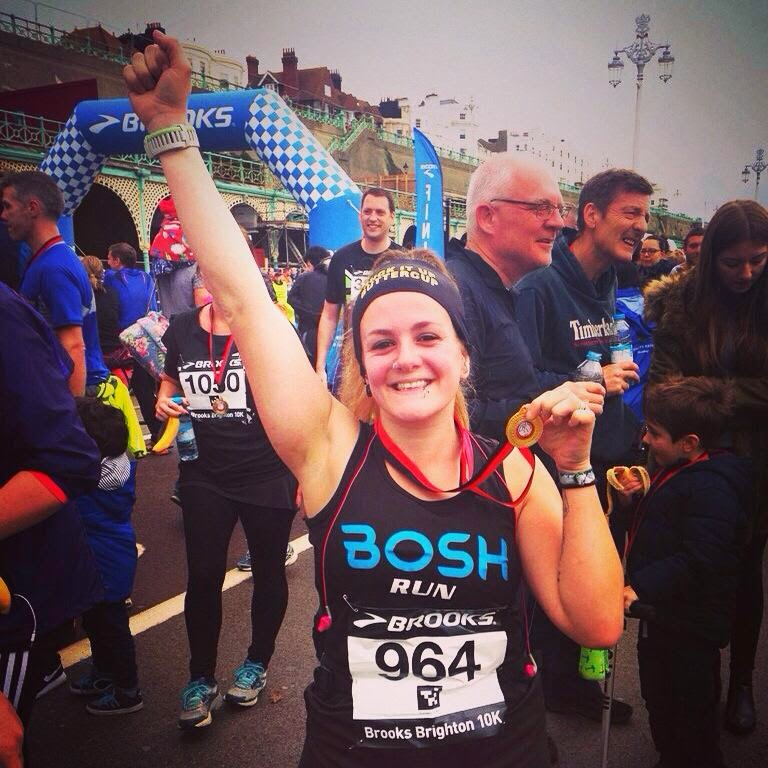 Brooks Brighton 10k 2014 - Tess Agnew PB