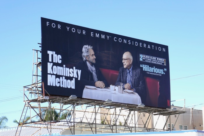 Kominsky Method season 1 Emmy FYC billboard