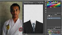Cara mengganti baju dengan jas di photoshop