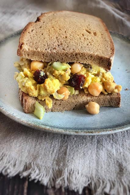 Vegan Curry Chickpea Salad Sandwich