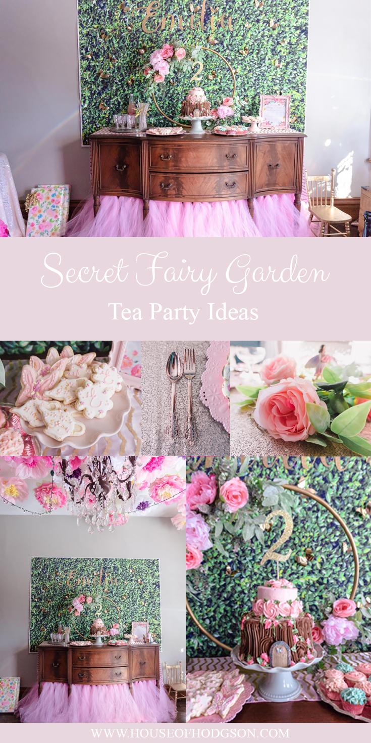 Secret Fairy Garden Tea Party Ideas