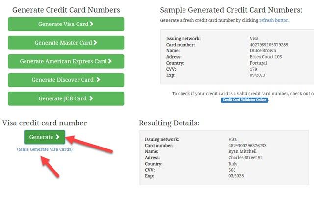 generate-credit-card-numbers