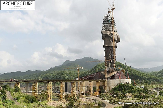 Statue of Unity construction process