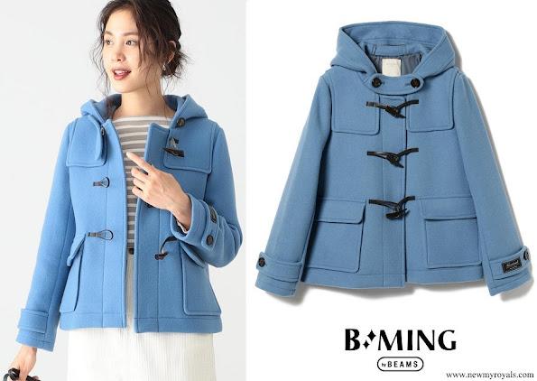 Princess Kako wore BMING by BEAMS coat