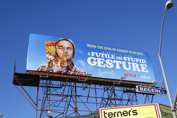 Futile and Stupid Gesture movie billboard