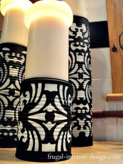 Hias kaleng bekas untuk menjadi wadah lilin