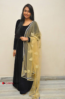 Actress Grace Myrtle Pos in Black Anarkali Dress at Beep Short Film Press Meet  0012.jpg