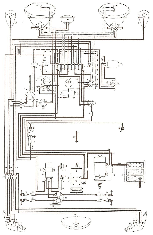 1976 vw kombi wiring diagram