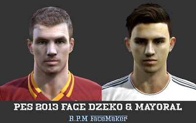Pes 2013 Face Dzeko & Mayoral by R.P.M
