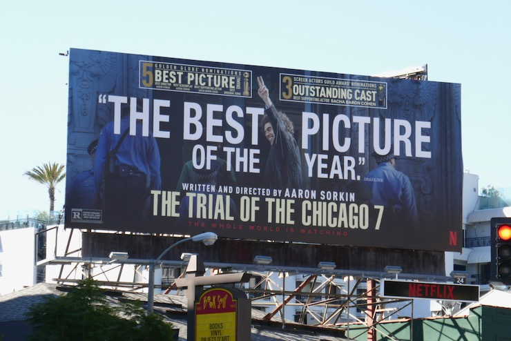 Trial of Chicago 7 Best Picture nominee billboard