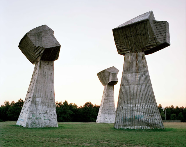 abandoned yugoslavian war monuments sculpture