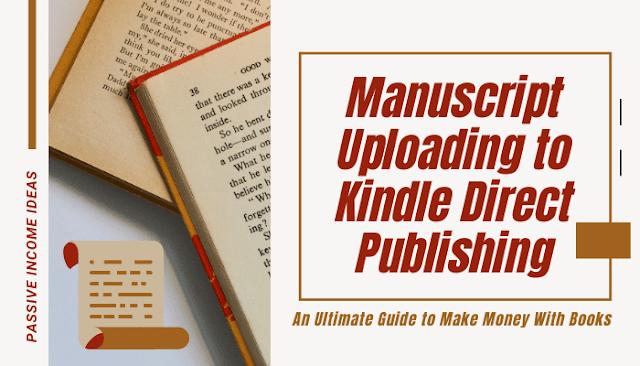 Kindle Amazon book manuscript uploading