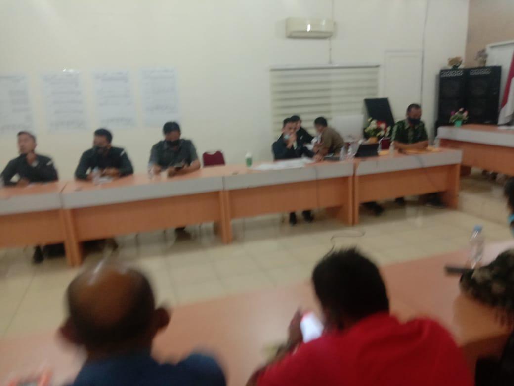 KPUD Labuhanbatu Menggelar Rapat Koordinasi Tentang Simulasi Pemungutan dan Penghitungan Suara
