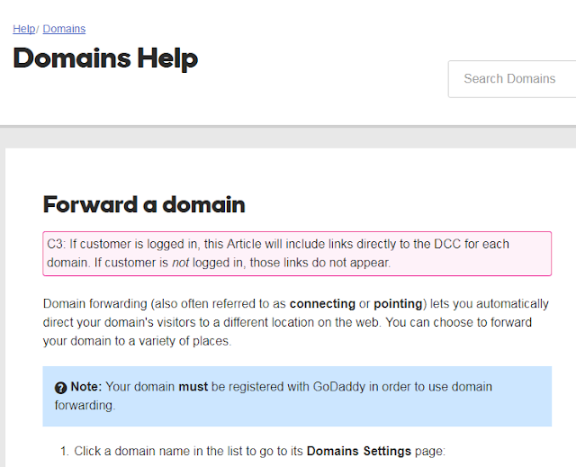 How to forward non-www to www.domain Godaddy Blogspot