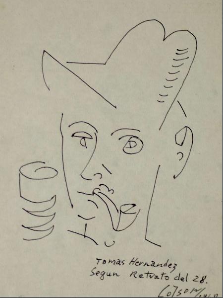 Boceto: Tomás Hernández según retrato del 28, 1968