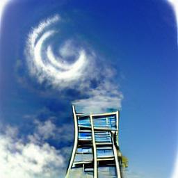 stairway towards blue sky