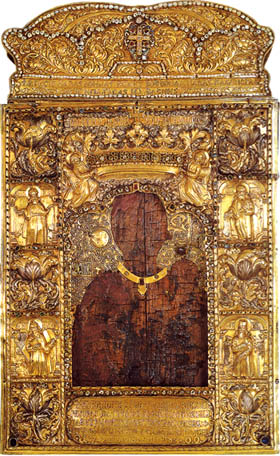 Icon of The Holy Virgin Atheniotissa Now in the Monastery of Our Lady of Soumela Kastania, Imathia