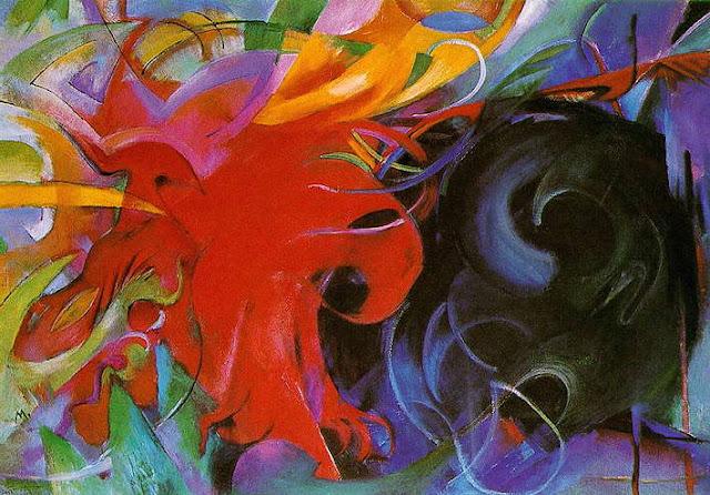 Franz Marc: Kämpfende Formen, 1914