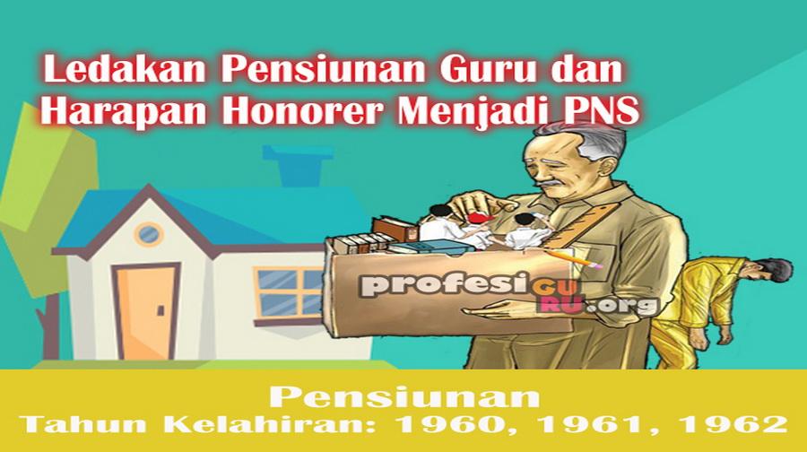 Ledakan Pensiunan Guru dan Harapan Honorer Menjadi PNS