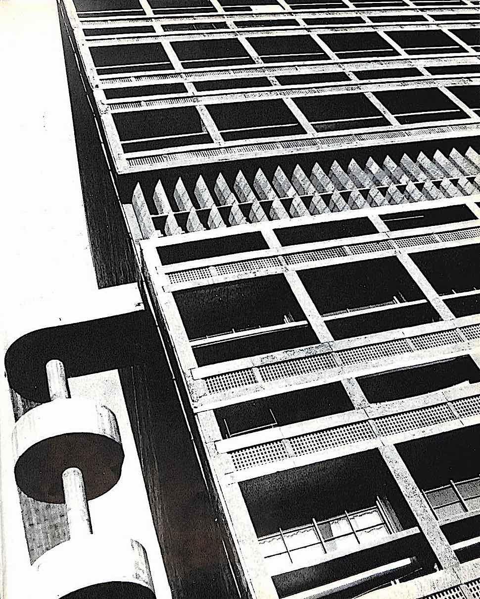Le Corbusier's Unite d'Habitation, a photograph